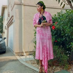 Vintage Pink Glitz Suit
